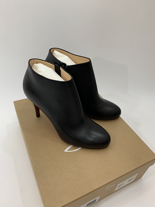 Christian Louboutin Belle 85 Calf Brosse Cuoio Heel Boot