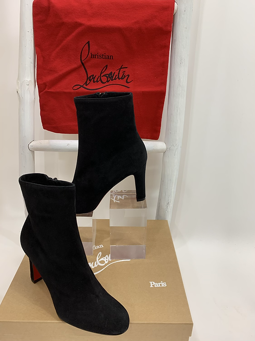 Christian Louboutin Top 70 Black Veau Velours Black Suede Boot
