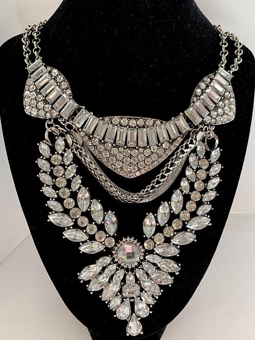 Antique Stone Embellished Statement Necklace