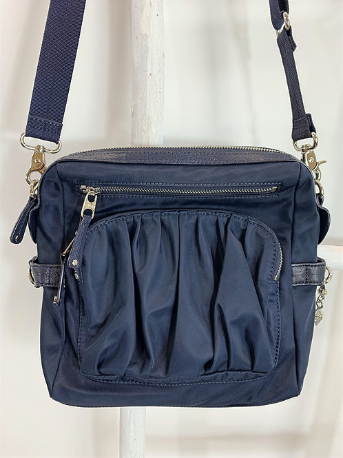 MZ Wallace Navy Blue Nylon Shoulder Bag