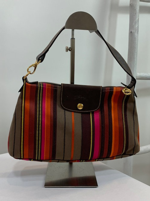 Longchamps Stripe Shoulder Bag
