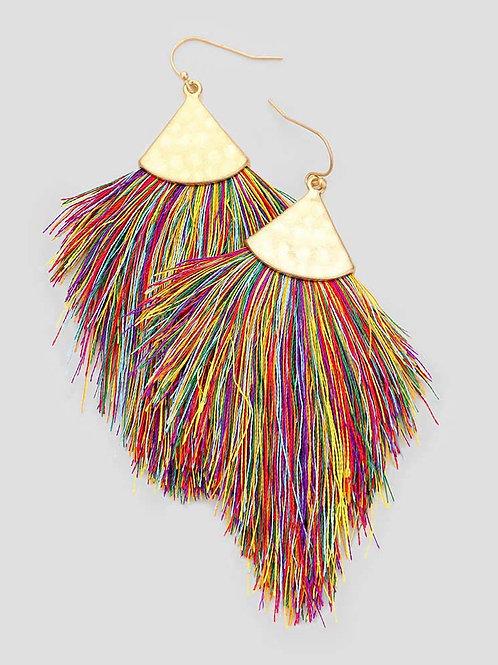 Colorful Tassel Fringe Earrings