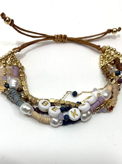 Be kind Intention Layered Bracelet