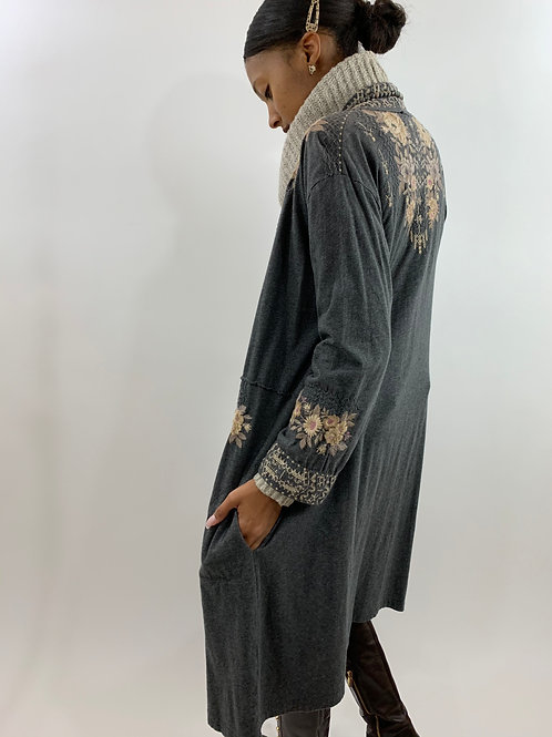 Johnny Was Embroidered Boho Duster Robe