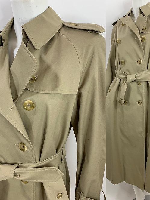 Vintage Burberry Khaki Trench Coat