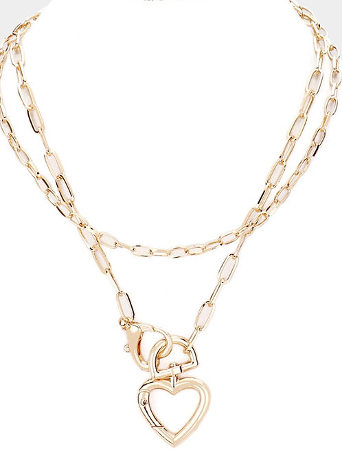 My Un Chained Heart Layer Necklace