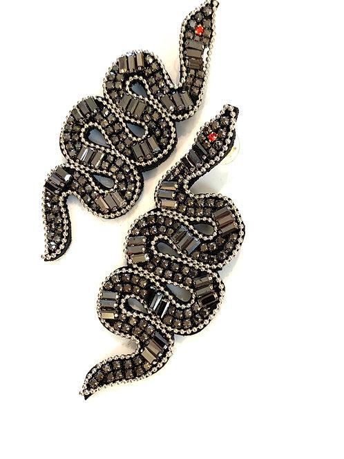 Art Deco Serpent Earring