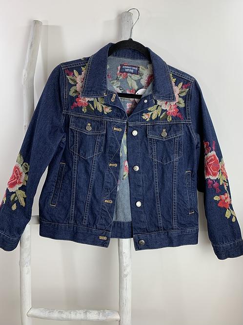Johnny Was Embroidered Denim Jacket