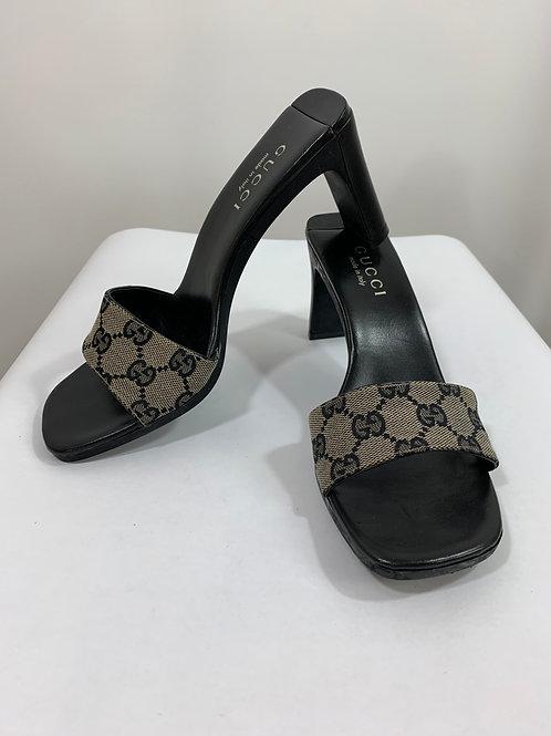 Vintage 90's Gucci Open toe Mule Slide Heel