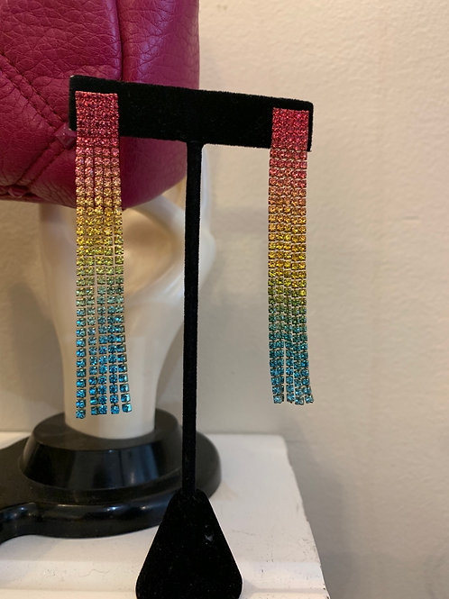 Rainbow Dangle Earring