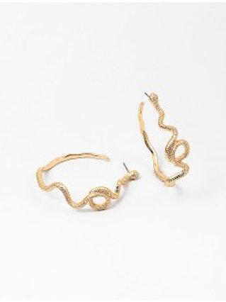 Serpent Hoop Earring
