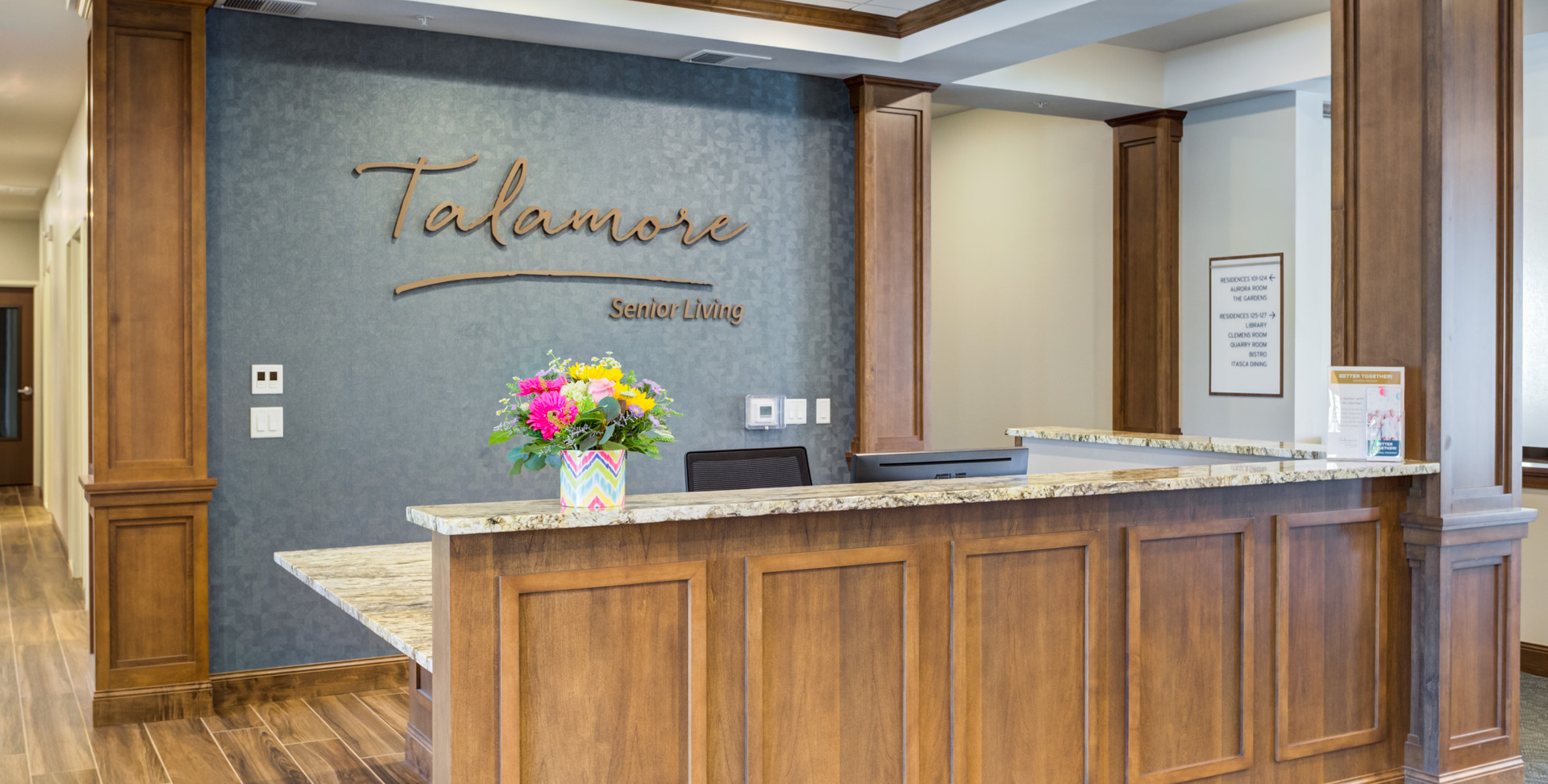 Talamore welcome desk