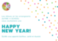 Teal, White, And Yellow New Year Greetin