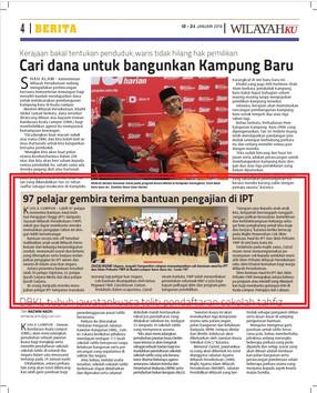 97 pelajar gembira terima bantuan pengajian di IPT