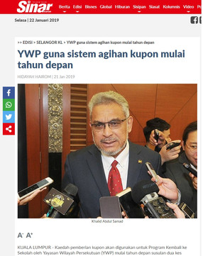 YWP guna sistem agihan kupon mulai tahun depan