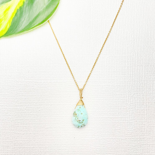 Gold Peruvian Turquoise Necklace