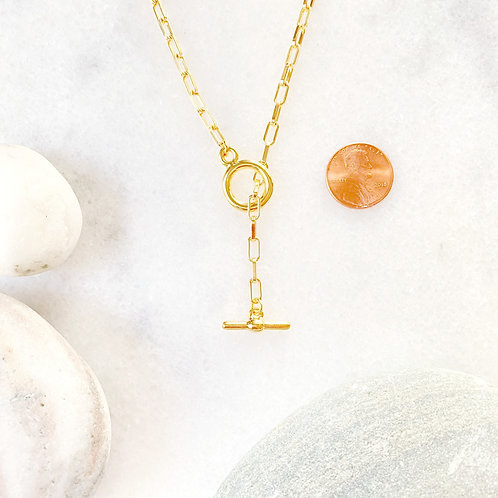 Gold Toggle Chain Necklace