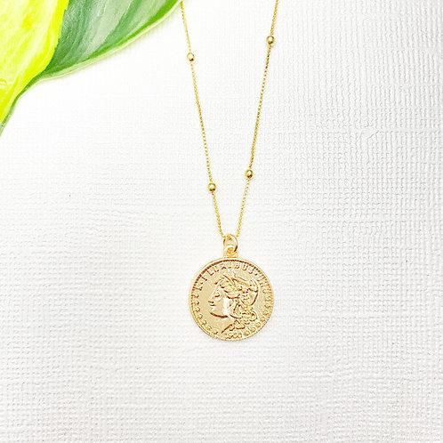 Goddess Coin Charm Satellite Necklace