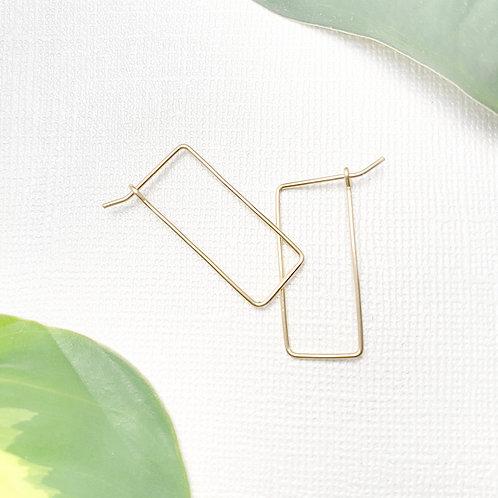 Minimalist Gold-Filled Geometric Earrings