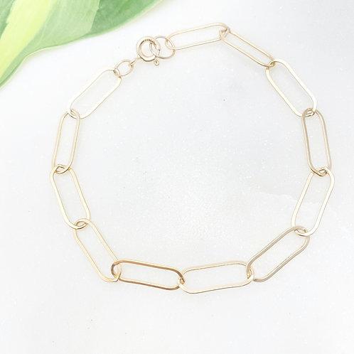 Gold-filled Paperclip Bracelet