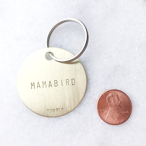 MAMABIRD Brass Key Fob