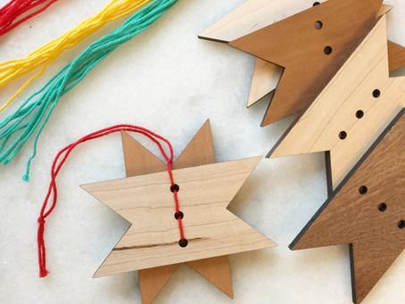 Reclaimed Wood Ornament Craft