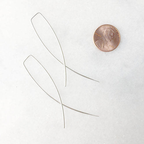 Sterling Silver X Threader Earrings