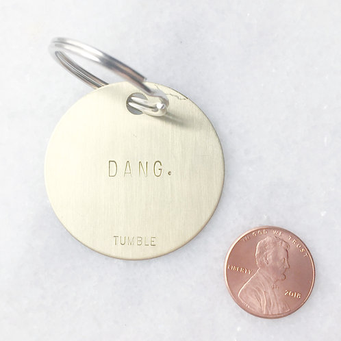 DANG. Brass Key Fob