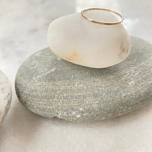 Gold-filled Hammered Stacking Ring