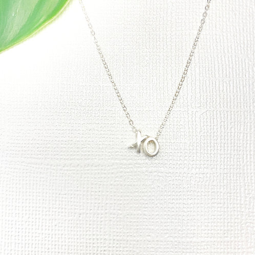 XO Dainty Sterling Silver Necklace