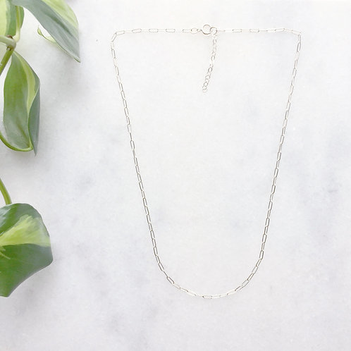 Sterling Silver Decorative Link Chain