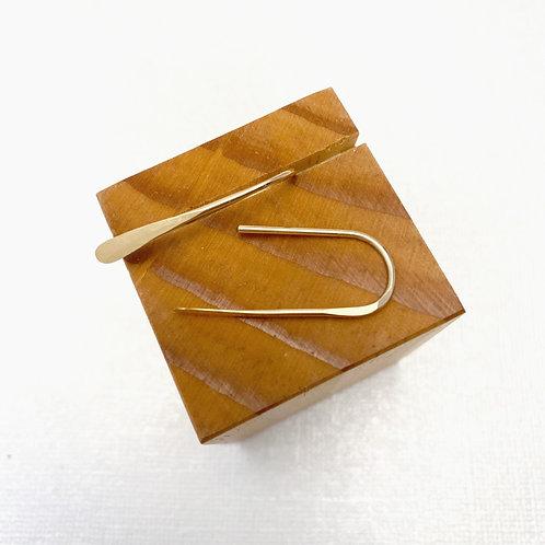 Gold-filled Hammered Staple Earrings