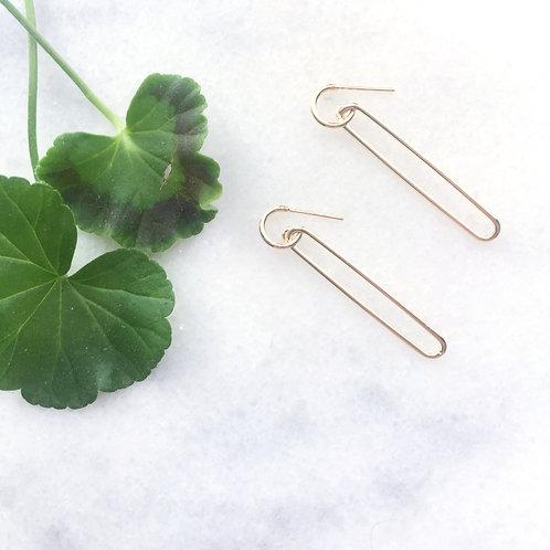Gold Filled Long Link Earrings