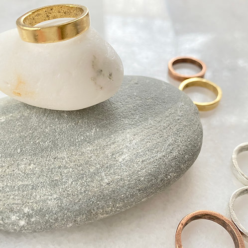 Thick Gold Stacking Ring
