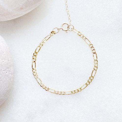 Gold-filled Figaro Bracelet