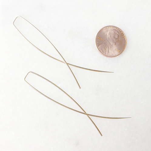 Gold Filled X Threader Earring