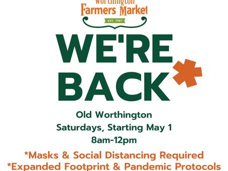 Worthington Farmer's Market is coming back to Old Worthington!