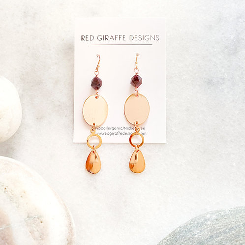 Rose-Gold Ornate Earrings