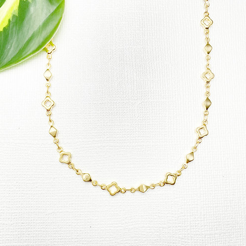Gold Decorative Chain Necklace