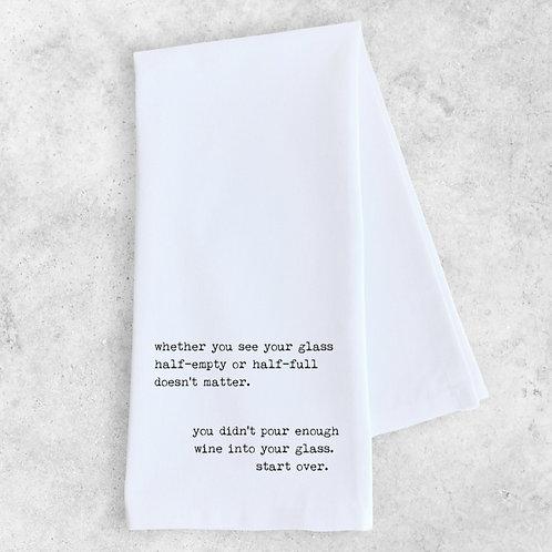 glass half-empty... Tea Towel