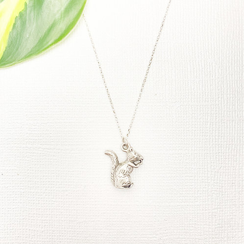 Sterling Silver Squirrel Charm Necklace