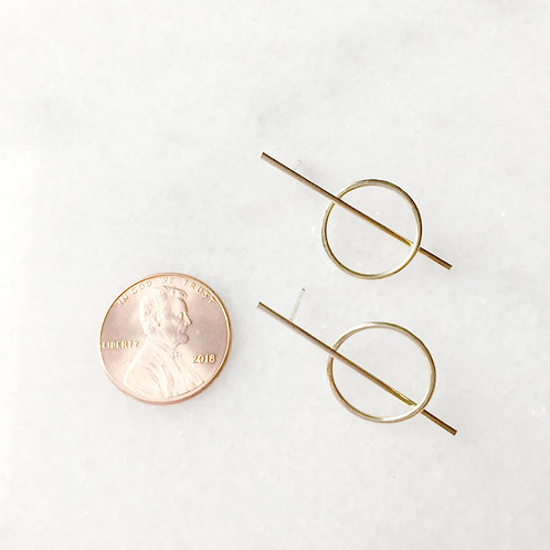 Gold Filled Helios Stud Earrings