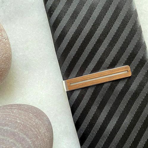 Walnut Lines Tie Clip