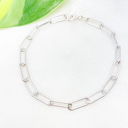 Sterling Silver Paperclip Bracelet