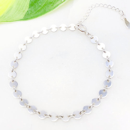 Sterling Silver All Disc Bracelet
