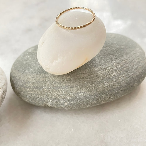 Gold-filled Twist Stacking Ring