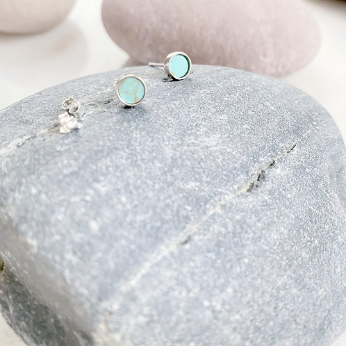Tiny Turquoise Post  Earrings