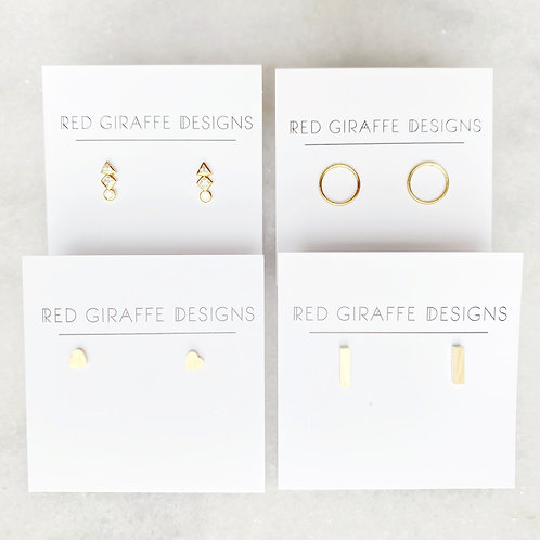 Tiny Gold Post Earrings