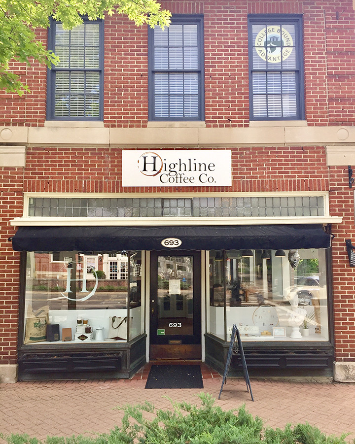 Our entrance is within a shared space with Highline Coffee and Branch Line Leather