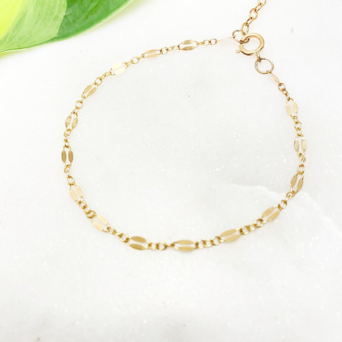 Gold-filled Decorative Chain Bracelet